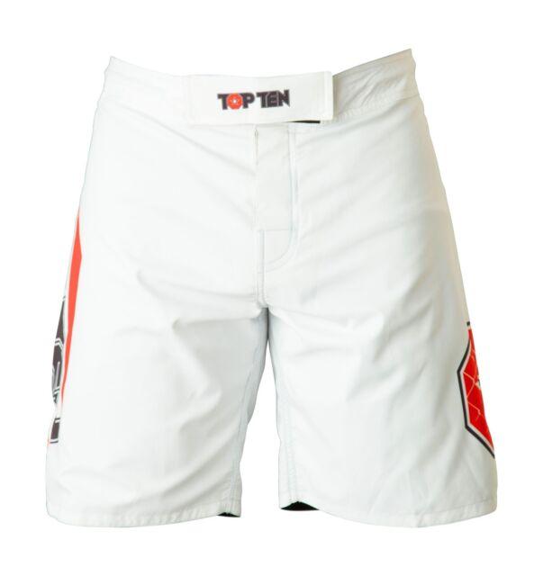 "Top Ten- MMA-Shorts ""Triangle"". S-XL. schwarz/weiß. Kickboxen. MMA. Training"