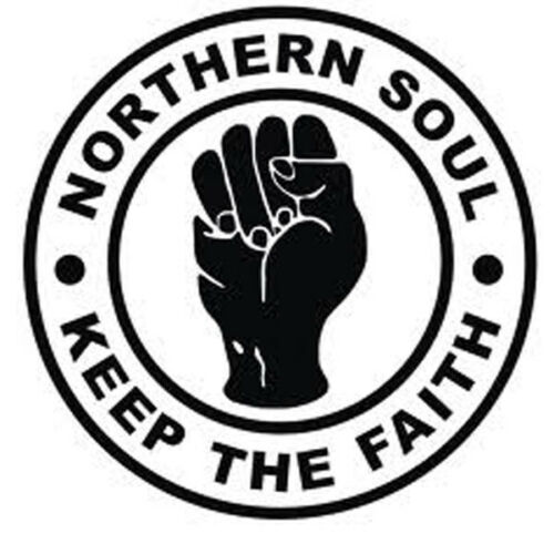 northern soul keep the faith car scooter wall bumper window vinyl decal
