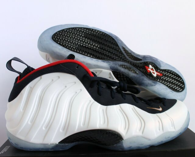 wholesale dealer b5d6d dc086 NIKE AIR FOAMPOSITE ONE PRM OLYMPIC USA OBSIDIAN-WHITE-RED SZ 18  314996
