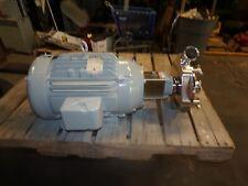 Fristam 25 X 2 Stainless Steel Centrifugal Pump 15 Hp 230460 Vac 3510 Rpm