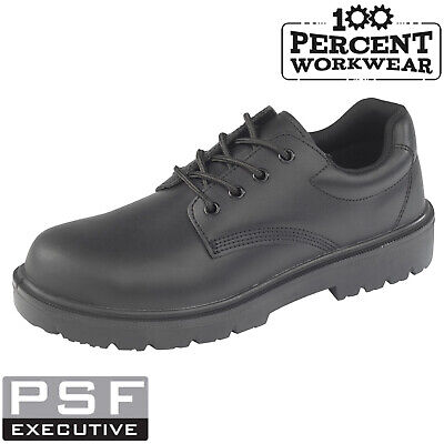 Tough High Quality Executive Black Leather Safety Work Shoes Steel Toe Cap Sole Neueste Mode