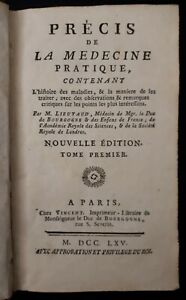 Lieutaud-Precis-de-la-Medecine-Pratique-histoire-des-maladies-Tome-1-1765