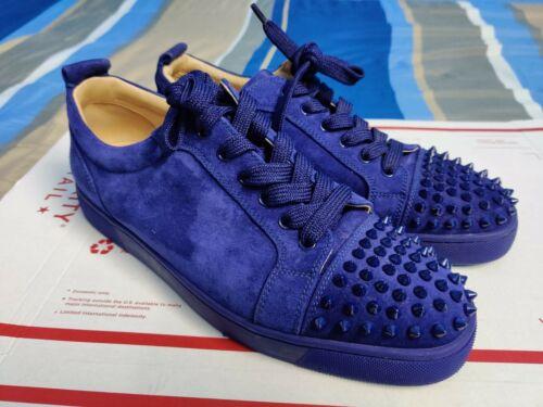 Christian Louboutin Royal Blue Spiked Men's Sneake