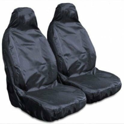 VAUXHALL CORSA D 07 ON Heavy Duty Waterproof Front Seat Covers Protectors Black