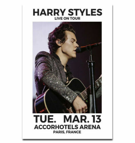 14x21 24x36 Harry Styles 2019 World Tour Rock Music L-W Canvas Poster Y33