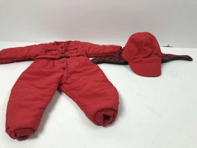 American Girl 1997 Pleasant Company Dog Sled Outfit Red Snowsuit  W/ Hat  Z43