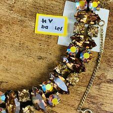 Vintage REGENCY Amber & Aurora Borealis Rhinestone Bracelet  GORGEOUS