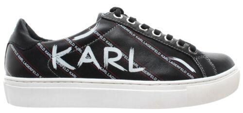 Kupsole Cuir Sneakers Lagerfeld Karl Chaussures Nouveau Noir Femmes xqf714