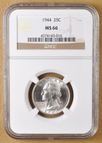 1944 P Washington Silver Quarter NGC MS66