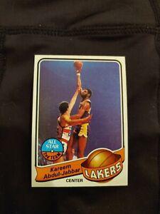 1979 Topps Kareem Abdul Jabbar basketball card #10 Los Angeles Lakers EX+
