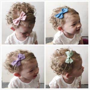 Nouveau Bébé Fille Serre-tête élastique Coiffure Bow Star Hairband Coiffure Accessoires