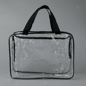 Details about Clear PVC Travel Makeup Bag Cosmetic Toiletry Bag Organizer with Handle