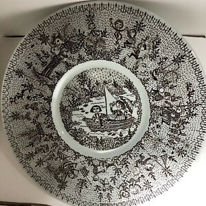 "Bjørn Wiinblad 10.24"" Plate #3055-83 Nymolle Denmark. Serigrafy Technique."