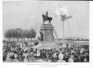1898-Antique-Print-INDIA-Calcutta-Statue-Lord-Roberts-Lord-Elgin-Grant-297