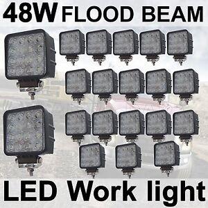 20X 48W Flood LED Off road Work Light Lamp 12V 24V car boat Truck Driving UTE