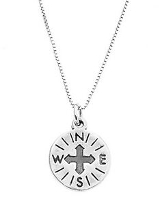 STERLING-SILVER-COMPASS-CHARM-WITH-BOX-CHAIN-NECKLACE