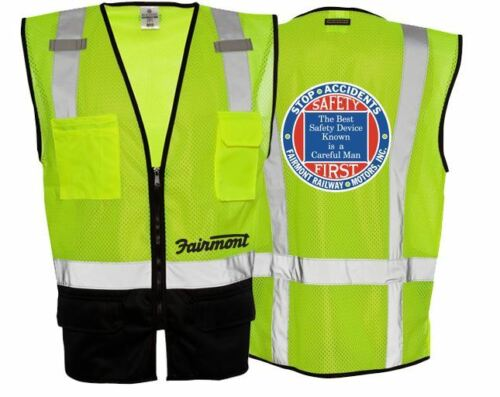 Fairmont Railway Motors Inc Class 2 Safety High Visibilty Reflective Vest