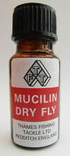 Mucilin Red Liquid Dry Fly Floatant Bottle with Brush For Trout Fishing