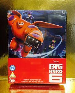 STEELBOOK-Blu-Ray-BIG-HERO-Zavvi-Limited-4000-Ex-2D-3D