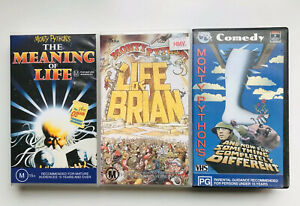 MONTY-PYTHON-VHS-LOT-Life-of-Brian-Meaning-of-life-completely-different