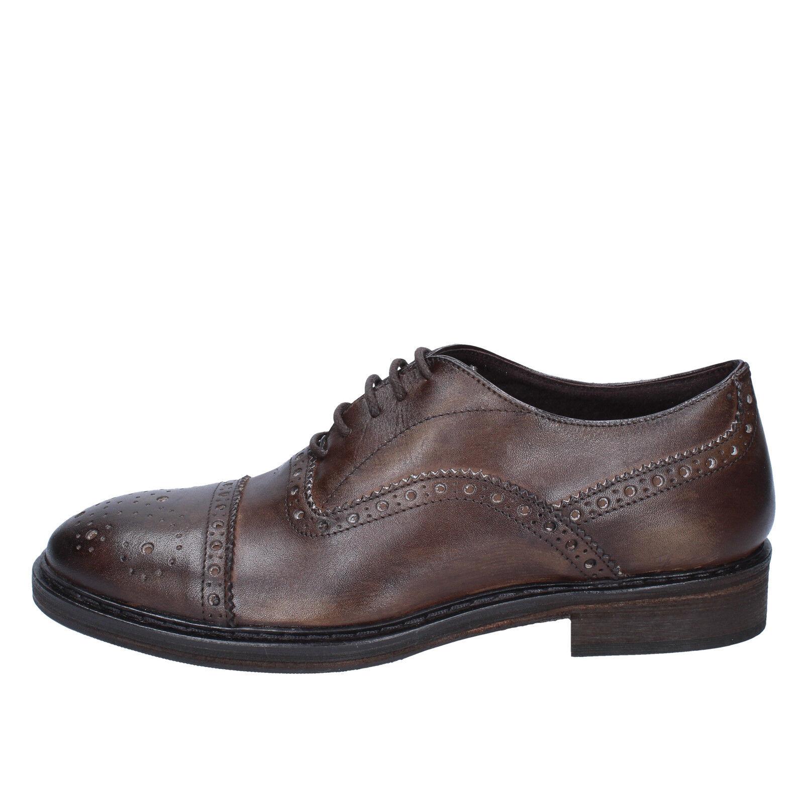 Scarpe uomo CESARE MAURIZI 43 EU classiche marrone pelle BX506-43