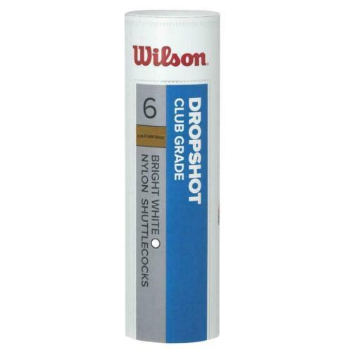 Wilson Dropshot Badminton Shuttle Tube of 6