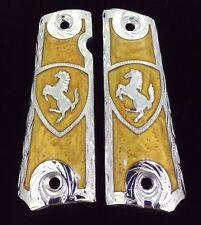 IN STOCK! 1911 FULL SIZE GUN GRIPS HORSES CACHAS CABALLO COLT FERRARI
