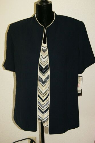 Set Sz Nieuwe Pant Navy 14 Dress Barn Pc Nwt 2 FFwX8qp