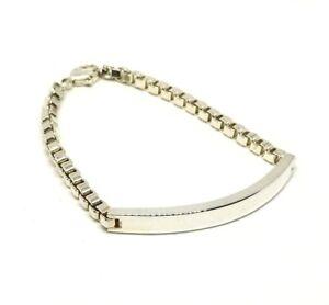 TIFFANY-amp-Co-Venetian-Link-ID-Bracelet-Sterling-Silver-925-2335