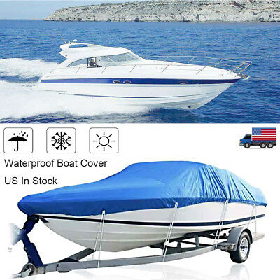 Including Waterproof Phone Case Fit V-Hull Tri-Hull Fishing Ski Pro-Style Bass Boats Full Size NEXCOVER Trailerable Runabout Boat Cover Water Proof Heavy Duty