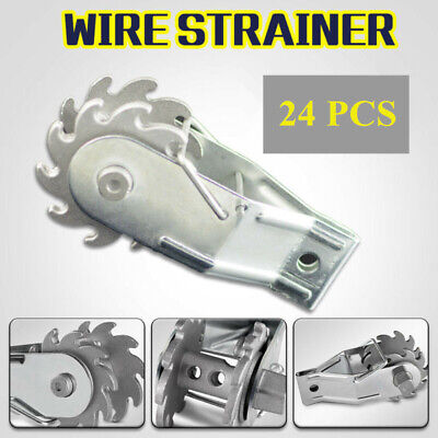 Agriculture/Farming 24Pcs Inline Ratchet Strainer Fence Wire Tensioner for Electric Farm Fence Farm Implements & Equipment