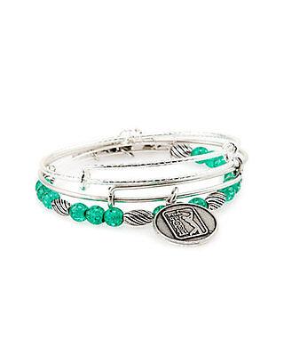 "Alex and Ani Set of 3 /""Watercolor PGA/"" Expandable Bangles bracelet a15rll44rs"