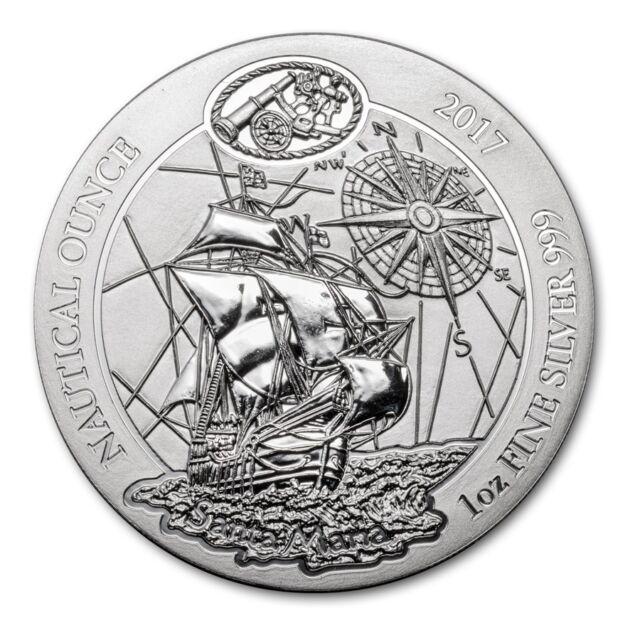 Rwanda Nautical ounce Santa maria Proof coin .999 Pure silver