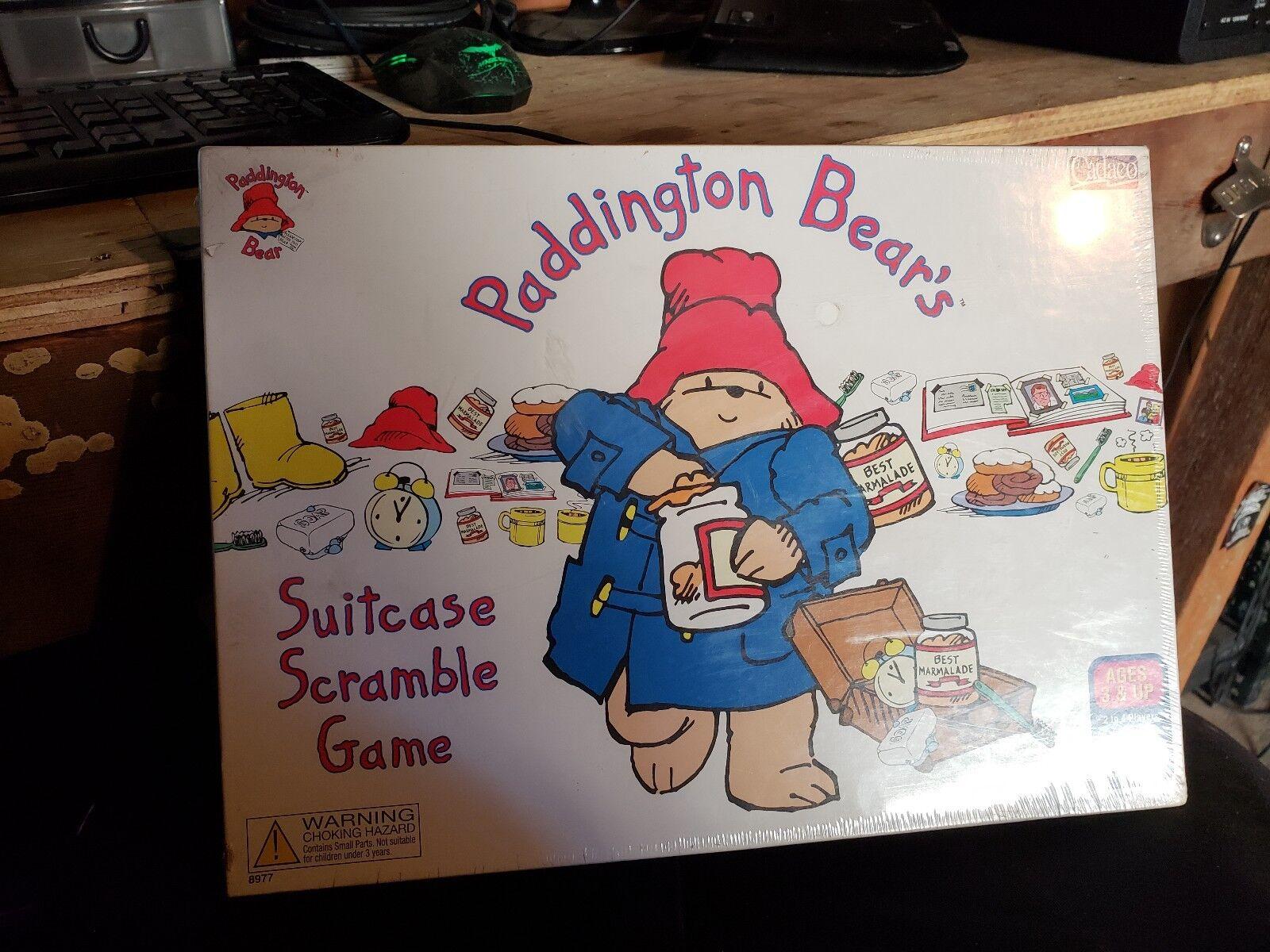 VTG Board Game Complete 1999 Cadaco Paddington Bear's Suitcase Scramble Game