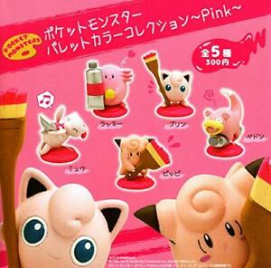 (Capsule Toy) Pokemon Palette Color Collection Pink [alle 5 Sets (Full Comp)]
