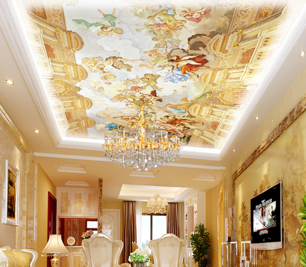 3D Old Society 64 Ceiling WallPaper Murals Wall Print Decal Deco AJ WALLPAPER UK