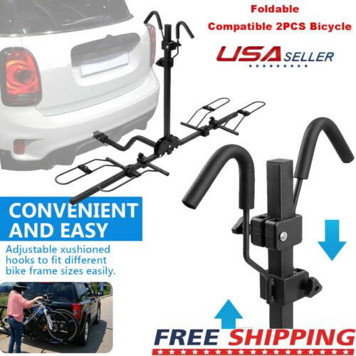 "New Heavy Duty 2 Bike Bicycle 2/"" Hitch Mount Carrier Platform Rack Car Truck SUV"