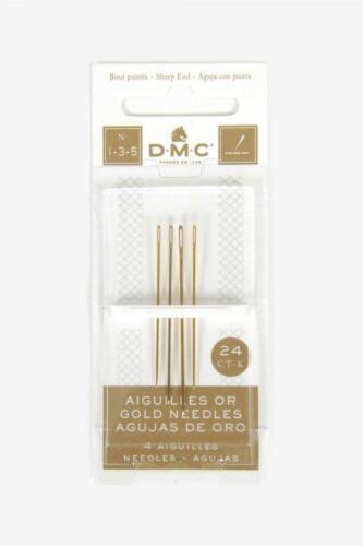 DMC Agujas-oro bordado-tallas 1,3,5-4 agujas