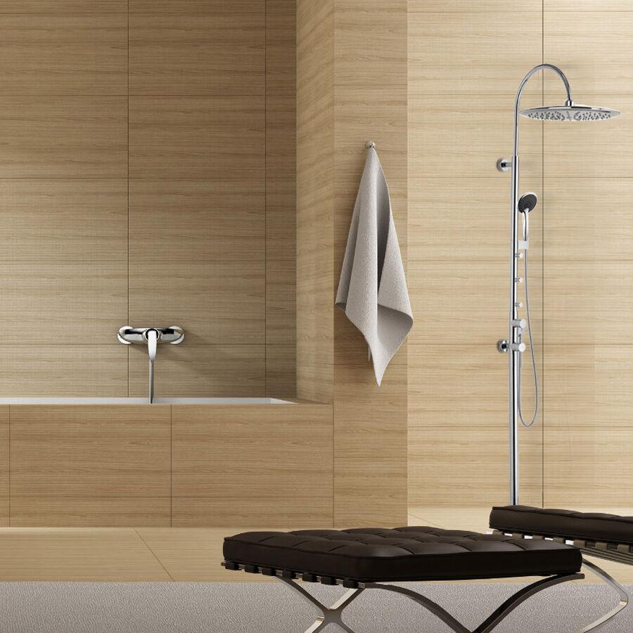Design Duschsystem mit Regendusche sowie Massagedüsen FM30002C-1J0429A-4306A