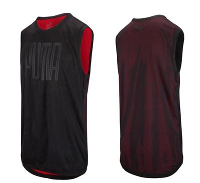 Puma Active Training Mens Sleeveless Top Reflective Gym Vest Black 515175 04 RW5