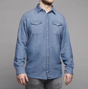 Replika Jeans CPH Denim Shirt bluee - 3XL  WAS .00