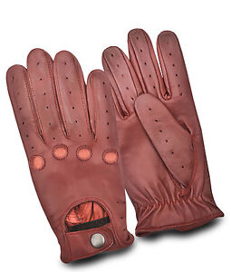 Mens-Classic-Retro-Soft-Leather-Dressing-Driving-Gloves-Unlined-Top-Quality
