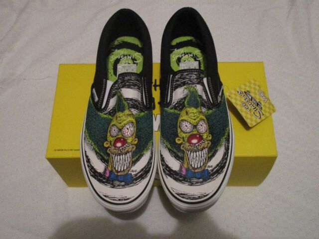 Buy VANS Slip on LX off The Wall Simpsons Krusty Lime Punch Size 11 ... fd86a37432e