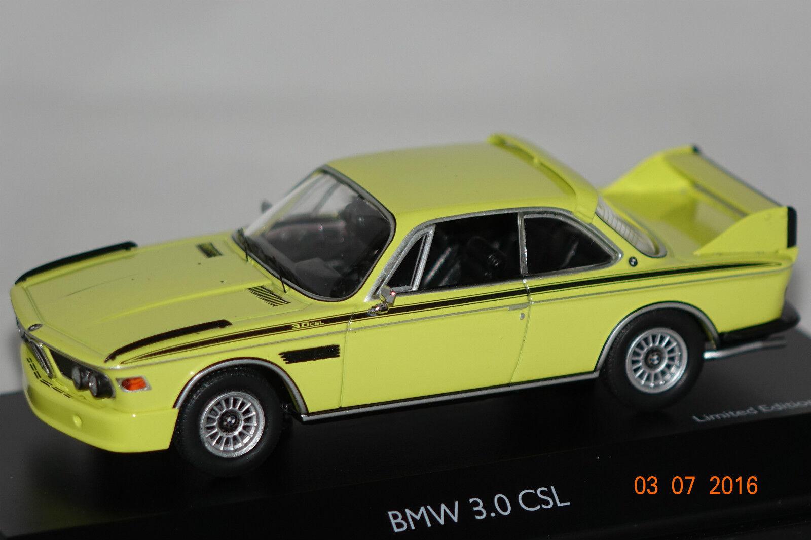 BMW 3,0 CSL jaune 1 43 schuco NOUVEAU & OVP 2190