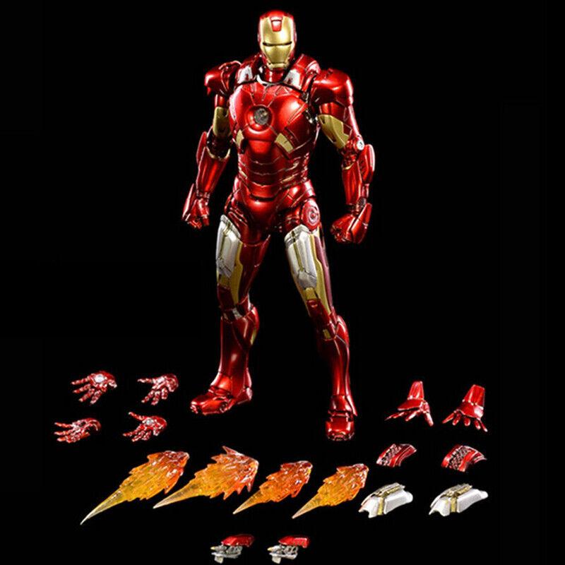 Escala 1 12 comicave Aleación Iron Man MK7 Colección Figura Movible
