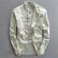 miniatura 5 - Para hombres mangas Largas Estilo Lino Sólido Camisas Casual Ajuste Camiseta Vestido Formal