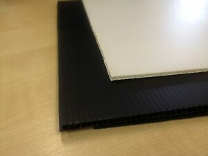 Correx Sheet 1.2m x 2.4m (8'x4') 2mm / 4mm Corrugated Plastic White or Black