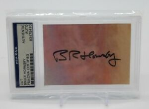 Bruce Hornsby Signed Cut Autograph Card PSA DNA Certified Slab Rock & Roll Star