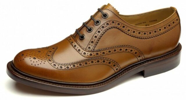 MENS LOAKE SHOES LACE UP BROUGE TAN COLOUR ASHBY