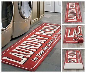 Laundry-Room-Runner-Rug-20-034-x-59-034-Non-Slip-Rubber-Backing-Area-Rug